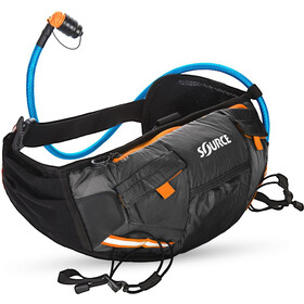 SOURCE Hipster Cinturón portabotellas 1,5L, black/orange